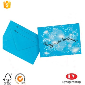 Wholesale Gift Card Printing With Envelope Packaging