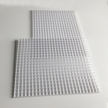 1212*603mm White Black Egg Crate Grille Sheet for Air Conditioner Ventilation