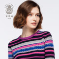 Women's crew neck Fair Isle pure cashmere sweater