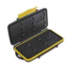 ALLOYSEED 12 Slot Waterproof Memory Card Case Protector Holder SD Micro SD TF Cards Storage Box Protective Cover Case Carry Bag