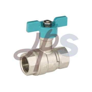 Brass ball valves with aluminum butterfly handle
