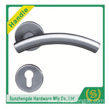 SZD STH-105 Stainless Steel Door Handles 2 Pairs Of Lever On Square Round Rose