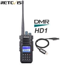 Retevis Ailunce HD1 Dual Band DMR Radio Digital Walkie Talkie Ham Radio Amador VHF UHF IP67 Waterproof GPS Encrypted Transceiver