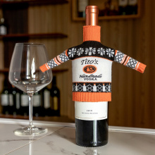 Red Wine Bottle Knitted Set