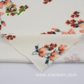 Flower smooth brushed single jersey polyester spandex fabric