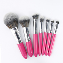 Mini 7pcs Makiyaj Brush Turistlarga mo'ljallangan to'plam