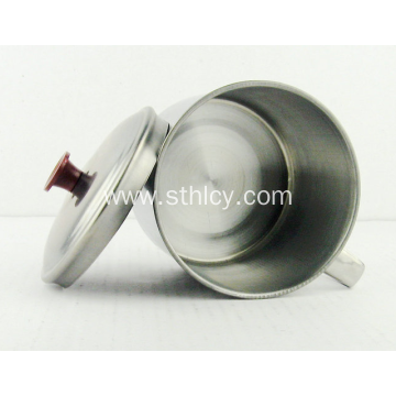 Stainless Steel Tea Cup With Hnadle And Lid