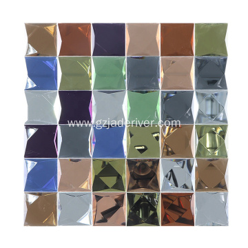 Color Glass Rainbow Mosaic Tile