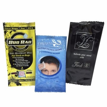 Single Pack Antibacterial Cleaning Wet Wipes For Restaurant