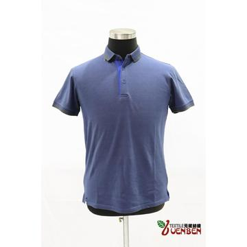 Mixed Yarn Solid PK With Jacquard Collar Polo