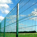 Green Metal Frame Welded Railway Fence