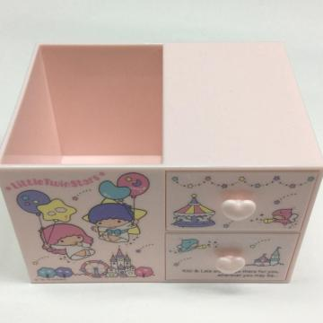 Plastic cartoon storage box with drawer