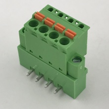 spring pluggable terminal block with locking screw