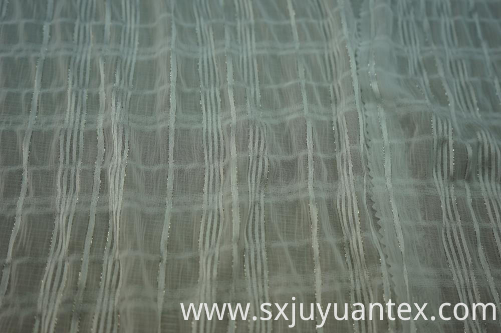 Chiffon Lurex Stripe Dobby Fabric