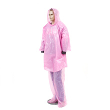 High quality waterproof recycled plastic PEVA raincoat