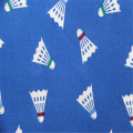 Badminton Pattern With Cotton Poplin Fabric
