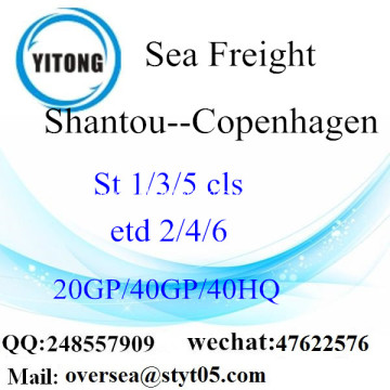 Shantou Port Sea Freight Shipping To Copenhagen