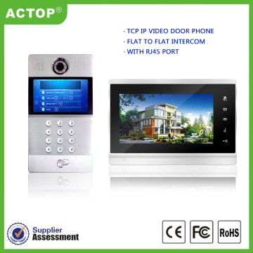 Apartment Building video intercom system with door release