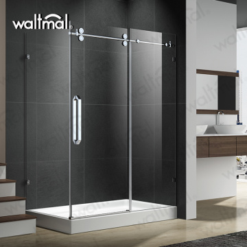 Clear Frameless All Glass Shower Doors