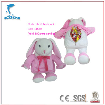 Plush Rabbit backpack candies bag