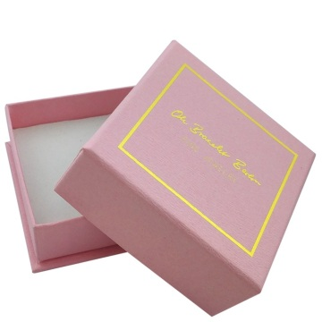 Luxury Jewelery Paper Packaging With Gold Foil Logo