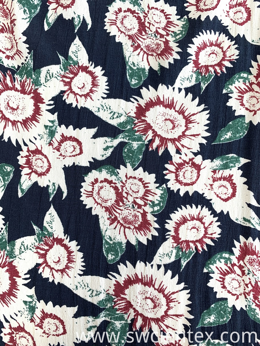 best price Fuli crepe print fabric