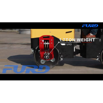 1.7 Ton Double Drum Soil Compactor Roller with Famous Engine (FYL-900)