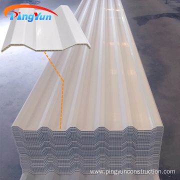 fireproof hollow PVC wall plastic roof sheet