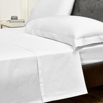 wholesale cotton plain home white bed sheet