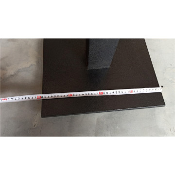 casting iron metal table base with square base