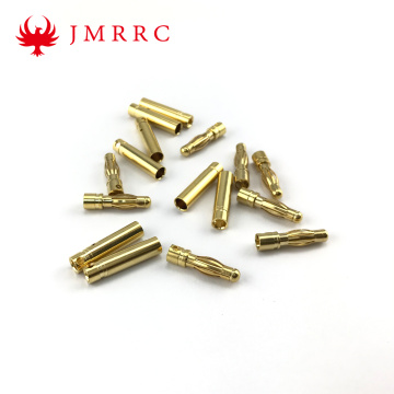 4mm Gold Bullet Banana Connector Plug