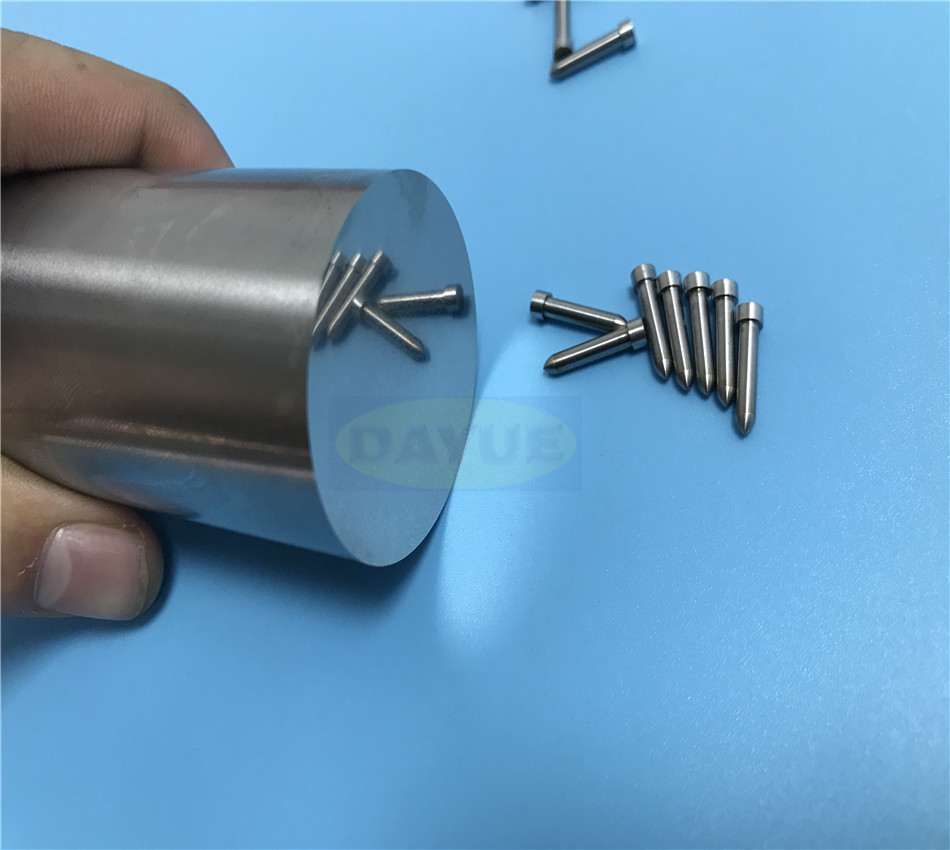 Tungsten carbide tool machining custom threaded pins Grinding shaft parts manufacturer mold parts supplier