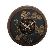 14 Inch Rustic Bird Pattern Gear Wall Clock