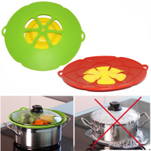 4 colors Silicone lid Spill Stopper Cover For Pot Pan Kitchen Accessories Cooking Tools Flower Cookware
