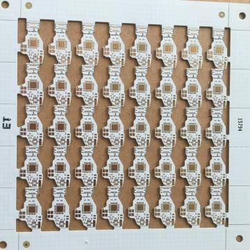 ENIG PCB with 0.4mm thickness  white solder