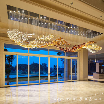 Luxury dining hotel club led chandelier light