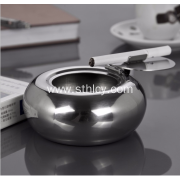 Thick stainless steel ashtray