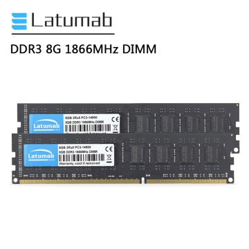 Latumab DDR3 RAM 8GB 16GB 32GB 1866MHz Desktop Memory PC3-14900 DIMM Memory 1.5V Memoria RAM DDR3 8GB PC Memory Module