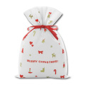High Quality Merry Christmas Drawstring Pouch