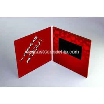 Customized Video Card  Video Greeting Brochure LCD Invitation Card Video brochure