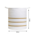 Promotional Cotton Thread Clothes Woven Rope Storage Basket