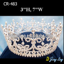 Gold Beauty Queen Crowns Full Round