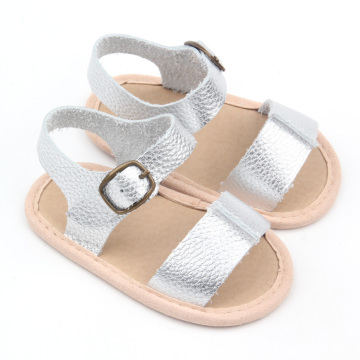 2018 Soft Leather Sliver Summer Sandals Baby Shoes