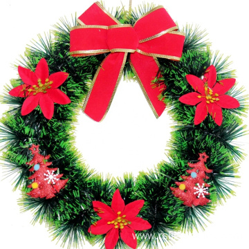 Christmas Upscale Pine Wreath Plastic Decorative