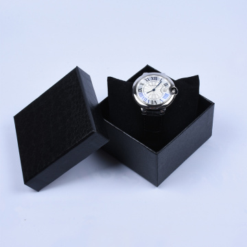 Leatherette Paper Watch Box Glod Stamping
