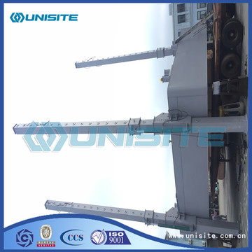 Square marine steel floating platforms