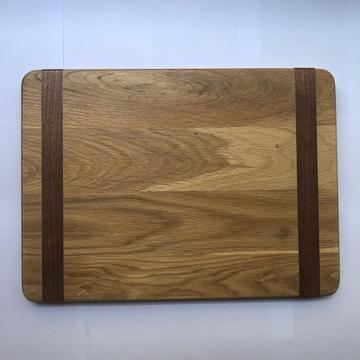 Mixed wood square cutting board