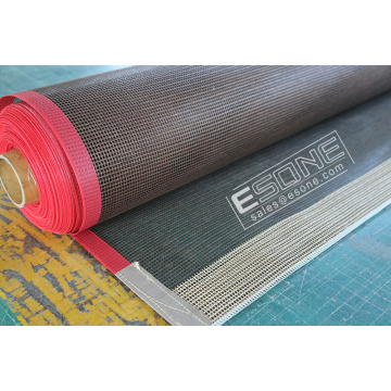 Porous open PTFE mesh belt for printing