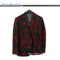 Sparkly Floral Casual Suit Full Dress Embroidered Blazer
