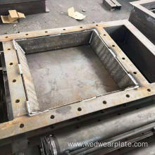 12+12 hardfacing wear steel frame